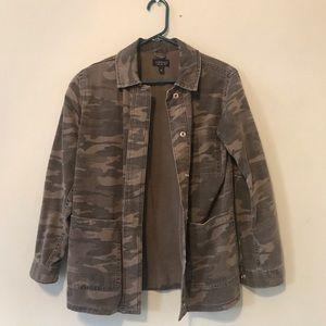 Topshop Camo Shirt Jacket